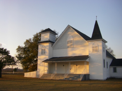 Historic Abba Baptist Church Irwin County GA Photograph Copyright Brian Brown Vanishing South Georgia USA 2008
