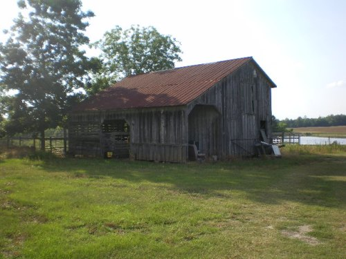 Irwinville Farms Barn Crystal Lake Road Irwin County GA Photograph Copyright Brian Brown Vanishing South Georgia USA 2008