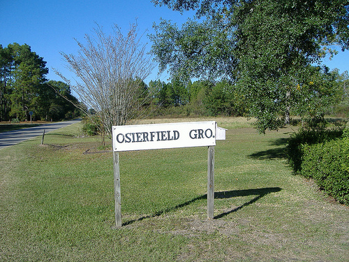 old osierfield grocery sign irwin county ga photograph copyright brian brown vanishing south georgia usa 2008
