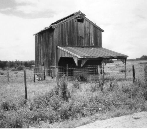 tobacco barn on washington road irwinville ga photograph copyright brian brown vanishing south georgia usa 2008