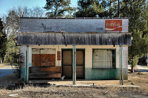 Wray GA Irwin County Abandoned Country Store Photograph Copyright Brian Brown Vanishing South Georgia USA 2008