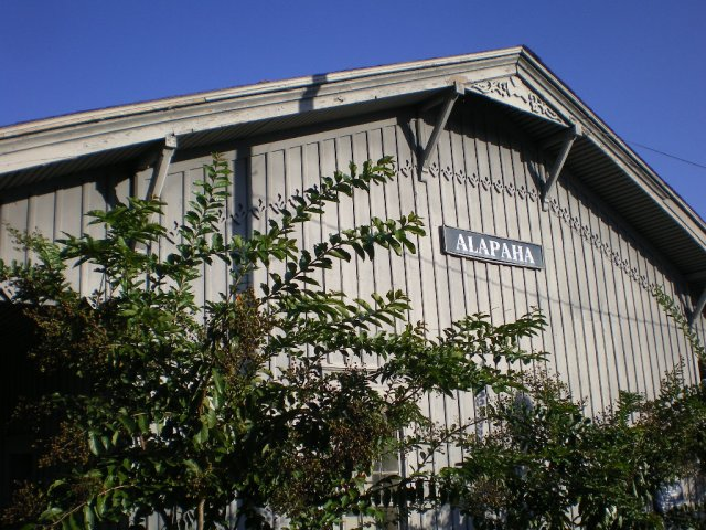 alapaha ga city hall old depot photograph copyright brian brown vanishing south georgia usa 2008