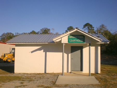 bridgetown ga coffee county rural courthouse precinct photograph copyright brian brown vanishing south georgia usa 2008