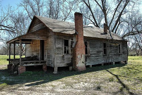 Irwin County Ga Shotgun House Photograph Copyright Brian Brown Vanishing  South Georgia Usa 2008