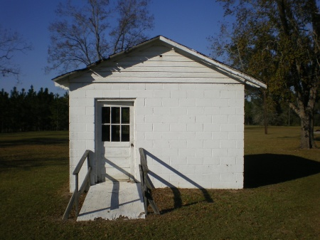 lax ga irwin county precinct house photograph copyright brian brown vanishing south georgia usa 2008