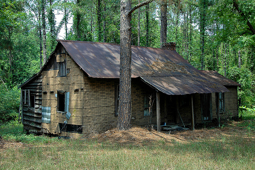 ambrose ga tar paper vernacular house photograph copyright brian brown vanishing south georgia usa 2008