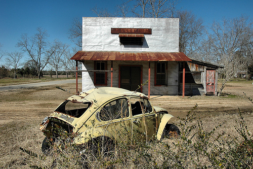 ashley parrish store abandoned vw bug mystic ga photograph copyright brian brown vanishing south georgia usa 2008