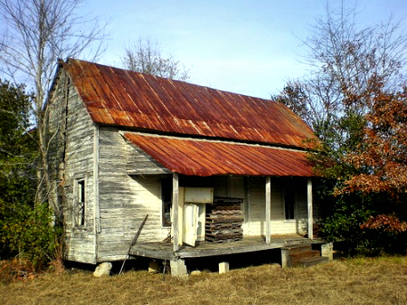 irwin county ga coolidge road farmhouse photograph copyright brian brown vanishing south georgia usa 2008