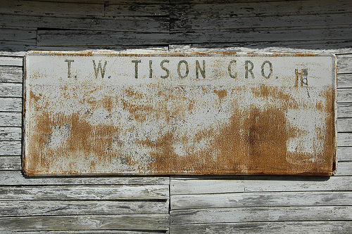 doles ga t w tison grocery store sign photograph copyright brian brown vanishing south georgia usa 2008