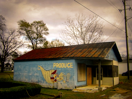lilly ga dooly county produce mural photograph copyright brian brown vanishing south georgia usa 2008