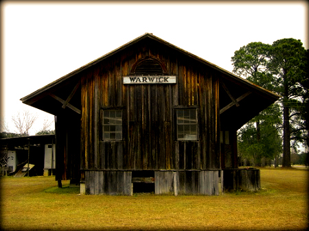 warwick ga railroad depot photograph copyright brian brown vanishing south georgia usa 2009