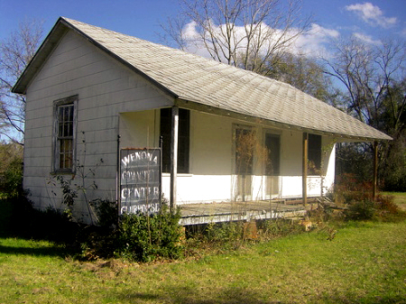 wenona ga community center photograph copyright brian brown vanishing south georgia usa 2008