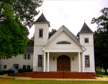 historic salem methodist church sumter county ga photograph copyright brian brown vanishing south georgia usa 2009
