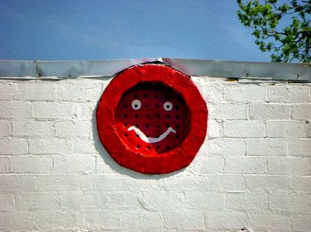 lumber city ga smiley face vent photograph copyright brian brown vanishing south georga usa 2009