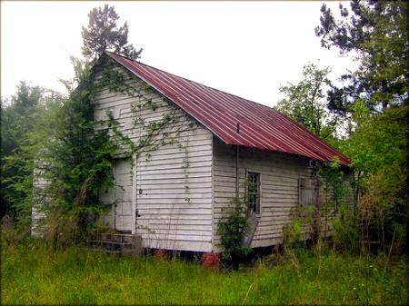 sumter county ga abandoned church chokee creek photograph copyright brian brown vanishing south georgia usa 2009