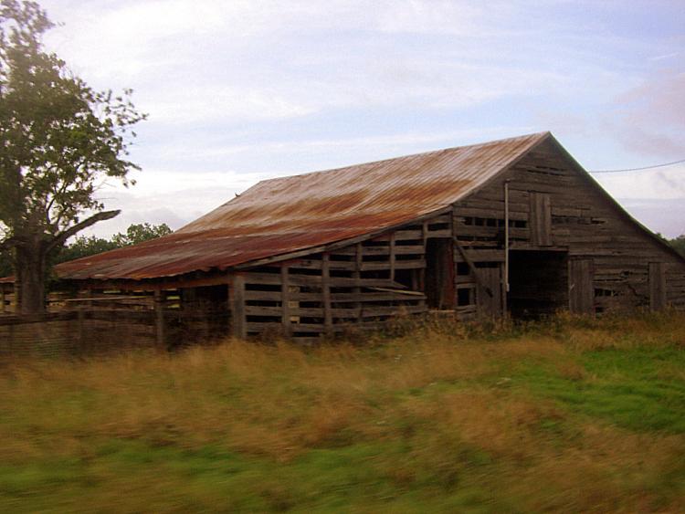 gordy ga stock barn photograph copyright brian brown vanishing south georgia usa 2009