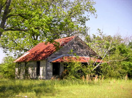 Vernacular Architecture on County Ga Us Highway 319 Abandoned Vernacular Farmhouse Architecture