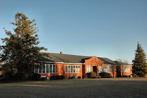 third ward school fitzgerald ga photograph copyright brian brown vanishing south georgia usa 2009