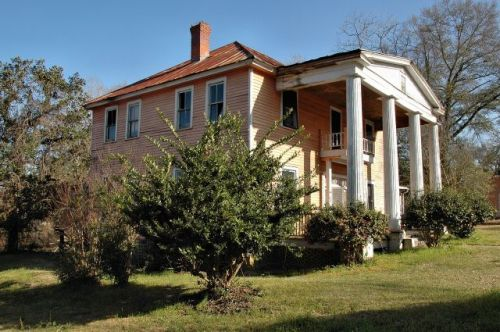 ideal ga endangered greek rrevival house photograph copyright brian brown vanishing south georgia usa 2009