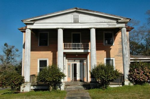 ideal ga greek revival house photograph copyright brian brown vanishing south georgia usa 2009