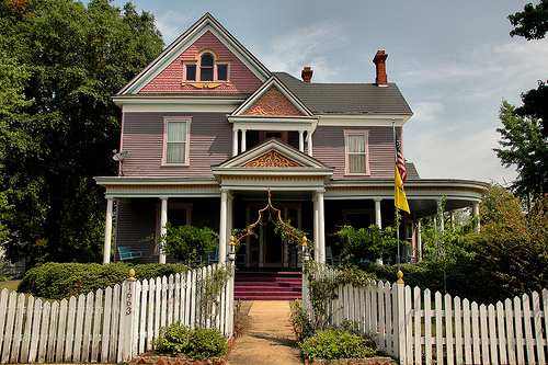lumpkin ga eclectic victorian house photograph copyright brian brown vanishing south georgia usa 2009