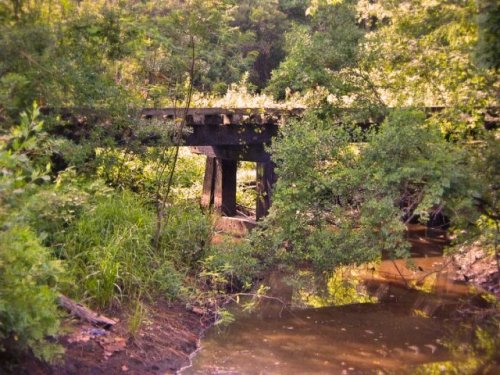 a c l railroad trestle fitzgerald ga photograph copyright brian brown vanishing south georgia usa 2009