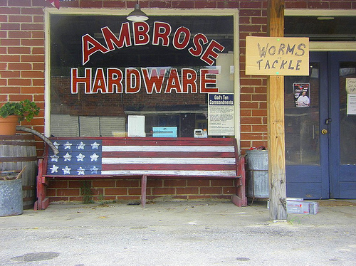 ambrose hardware coffee county ga photograph copyright brian brown vanishing south georgia usa 2009
