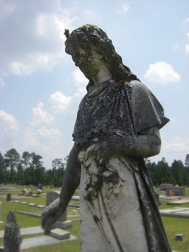 Vanishing South Georgia Arabi Crisp County GA Antioch Churhc Cemetery Emma Thompson Pioneer Copyright Brian Brown Maiden Figural Sculptural Art