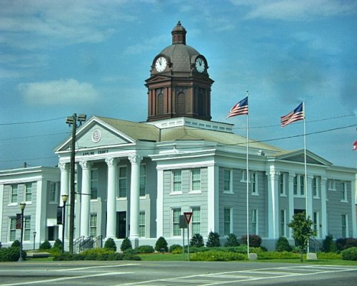 appling county courthouse baxley ga photograph copyright brian brown vanishing south georiga usa 2009