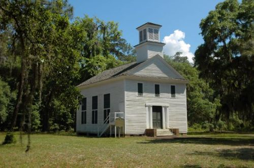 historic dorchester presbyterian church liberty county ga photograph copyright brian brown vanishing south georgia usa 2009