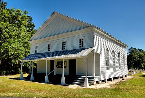 historic jones creek baptist church long county ga photograph copyright brian brown vanishing south georgia usa 2009