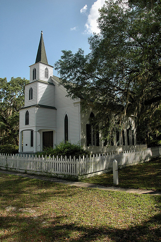 historic walthourville presbyterian church long county ga photograph copyright brian brown vanishing south georgia usa 2009