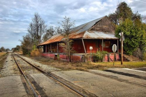 morven ga southern railway depot photograph copyright brian brown vanishing south georgia usa 2016