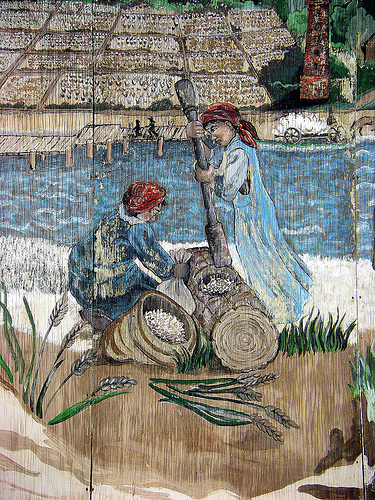 colonial coast mural folk