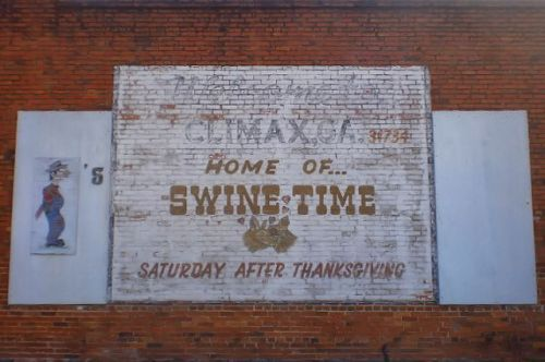 climax ga swine time mural photograph copyright brian brown vanishing south georgia usa 2009