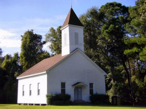 historic whigham baptist church photograph copyright brian brown vanishing south georgia usa 2009