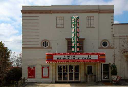 historic zebulon theatre cairo ga photograph copyright brian brown vanishing south georgia usa 2009