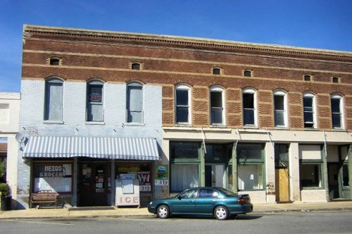 meigs ga historic commercial storefronts photograph copyright brian brown vanishing south georgia usa 2009