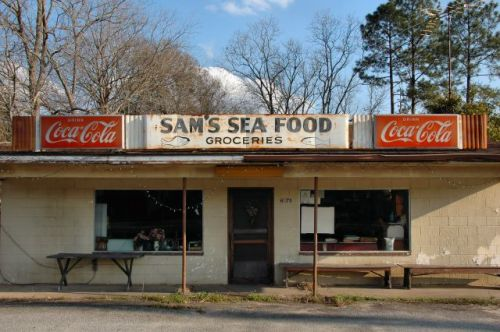 patterson ga sams seafood grocery photograph copyright brian brown vanishing south georgia usa 2009
