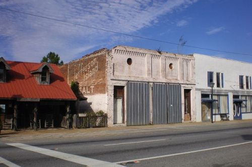 whigham ga historic downtown storefronts photograph copyright brian brown vanishing south georgia usa 2009