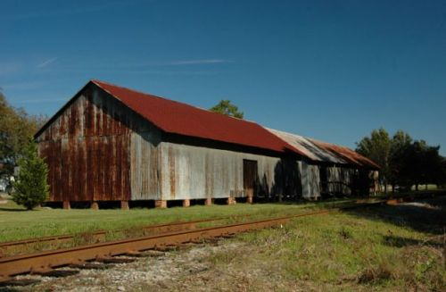 bellville ga freight warehouses photograph copyright brian brown vanishing south georgia usa 2009