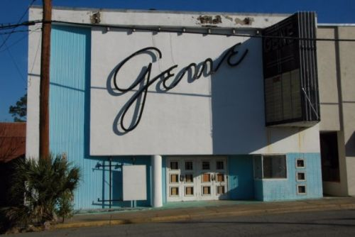 historic gene theatre mcrae ga photograph copyright brian brown vanishing south georgia usa 2009