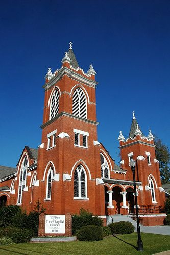 historic mcrae first baptist church photograph copyright brian brown vanishing south georgia usa 2009