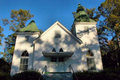 historic methodist church ideal ga photograph copyright brian brown vanishing south georgia usa 2009