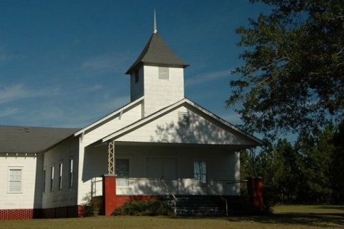 historic primitive grove baptist church candler county ga photograph copyright brian brown vanishing south georgia usa 2009