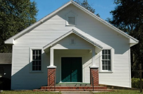 manassas ga historic methodist church photograph copyright brian brown vanishing south georgia usa 2009