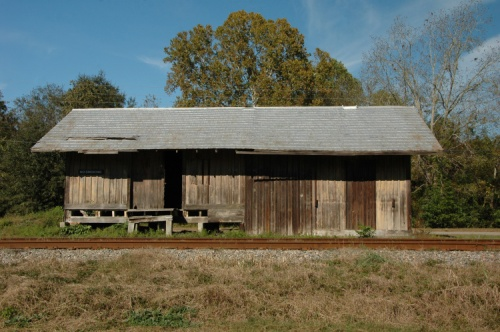 manassas ga savannah and western depot photograph copyright brian brown vanishing souh georgia usa 2009