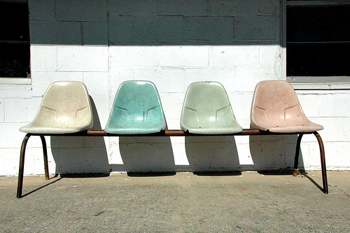 Glenville GA Tattnall County Laundromat Eames Like Modern 1950s Pastel  Bench Chairs Pictures Photo Copyright Brian Brown Vanishing South Georgia  USA 2010