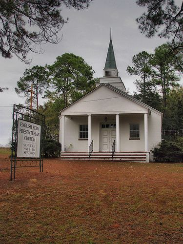 historic english eddy presbyterian church photograph copyright brian brown vanishing south georgia usa 2009
