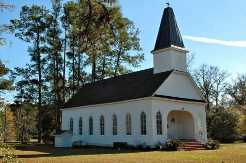 historic wingard memorial lutheran church clyo ga photograph copyright brian brown vanishing south georgia usa 2009